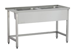 Dishwasher Inlet Table with Sinks