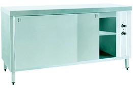 Waiter's Counter with Intermediate Shelf and Hot Cabinet