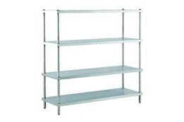 Dismountable Storage Unit with Flat Shelves
