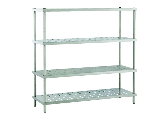 Dismountable Storage Unit with Perforated Shelves