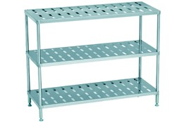 Dismountable Storage Unit with 3 Perforated Shelves