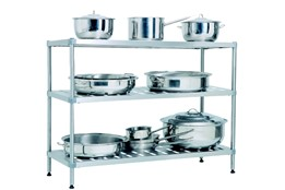 Dismountable Storage Shelves for Pots and Pans with 3 Shelves/Levels