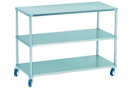 Dismountable Mobile Storage Unit with 3 Levels and 3 Flat Shelves
