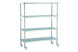Dismountable Mobile Storage Unit with Flat Shelves