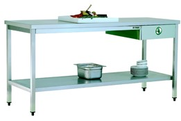 Workd Table/with One Drawer/with Lower Shelf