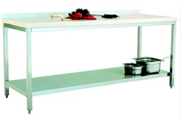 Polyethylene Top Table/with Lower Shelf