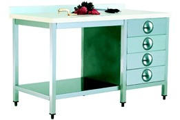 Polyethylene Top Table/3 Drawers/with Lower Shelf