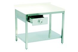 Polyethylene Top Table/with One Drawer/with Lower Shelf